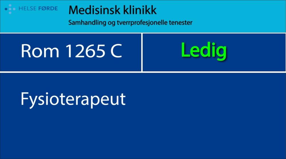 1265 C Fysioterapeut, Ledig