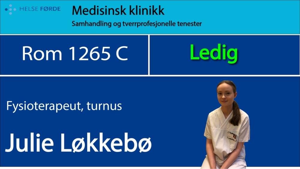 1265c Løkkebø, Julie Ledig