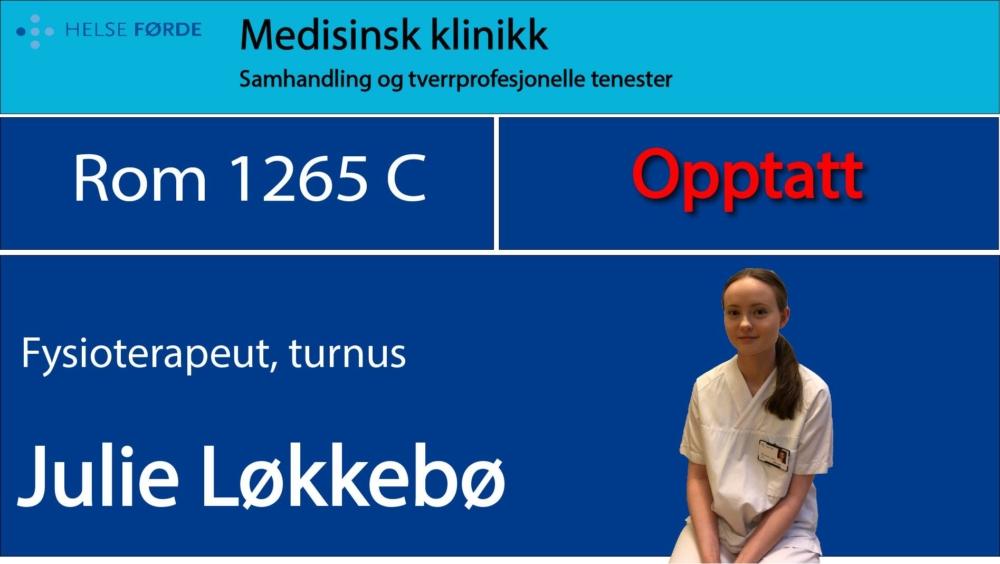 1265c Løkkebø, Julie Opptatt