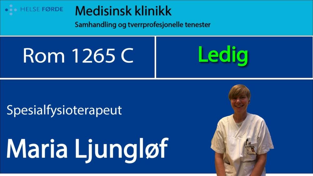 1265c Ljungløv, Maria Ledig