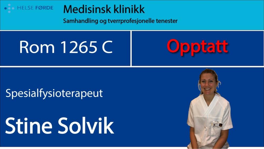 1265c Solvik, Stine Opptatt