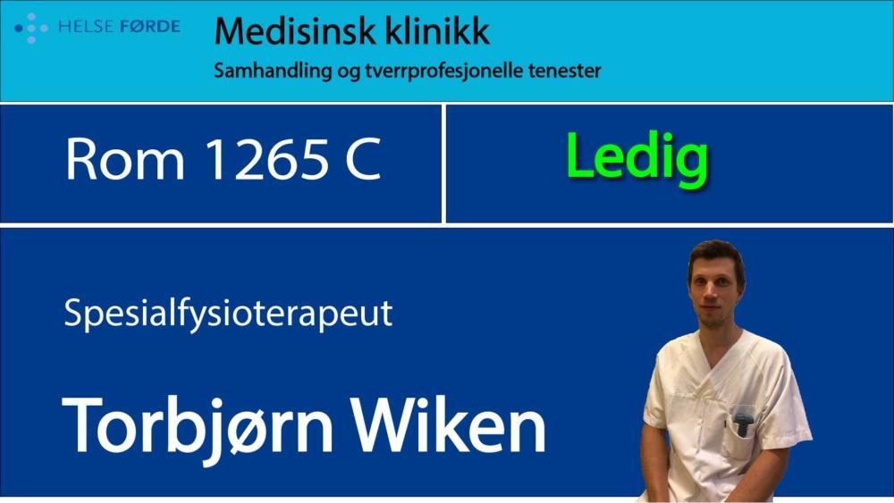 1265c Wiken, Torbjørn Ledig